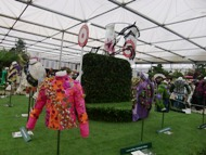 Floral design competition at Chelsea flower show