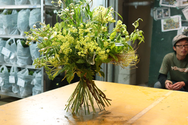 Summer bouquet with herbs