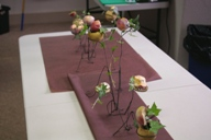Table arrangement for 6-8 persons by master's course students