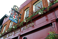 A pub at Hammersmith Bridge, London