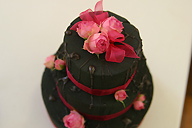 Petit cake made of floral sundries