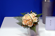 Flowers for a reception table