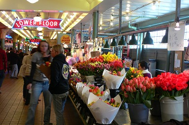 Pike Place Market flower street