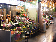 flower arranging at a flower shopping area, Seoul, Korea