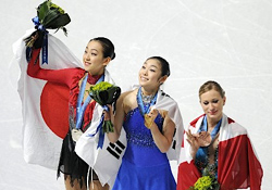 Olympic game medalist bouquet, image from Jiji.com